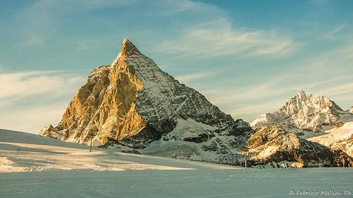 Afternoon light over the Matterhorn