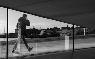 Looking out, Oslo Opera House | by lacafferata