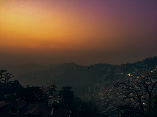 shimla sunset fog foggy cameraphone iphoneography
