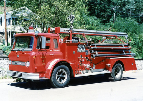 welch pumper truck wv mcdowell fire ifd boardman 1965 ih red us52 avondale