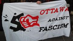Ottawa against Fasism banner