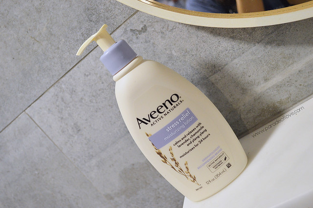 AVEENO x iHerb Day Routine - Stress Relief Body Lotion 01