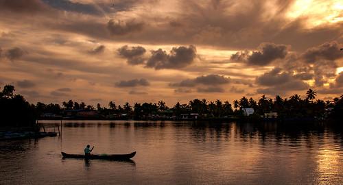 india slotboom boat 2017 sunset river dirkslotboomnl ernakulam kerala in