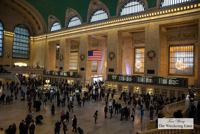 View of Grand Central Station from my table