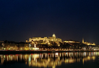 Budapest castle night