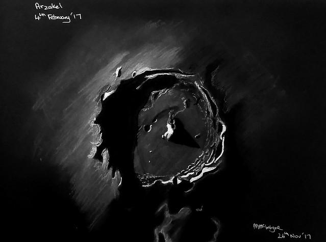 Sketch of Crater Arzakel 4th February 2017 (Sketched 26th November 2017)