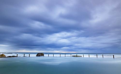 maroubra newsouthwales australia au mahon pool long exposure ocean sydney cloud