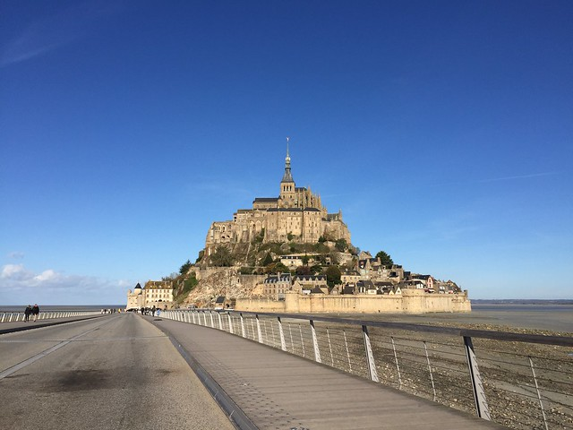 Mont St-Michel and walkway