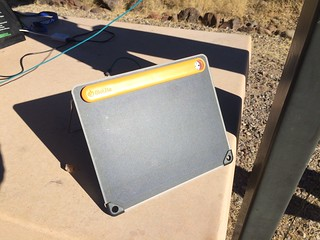 Gila Box Riverview Campground solar charging Biolite | by Pierre Yeremian