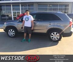 #HappyBirthday to Francisco from Luis Espinoza at Westside Kia!