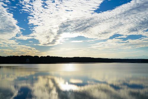 landscape cloud sunset twilight 多摩湖 東京 湖