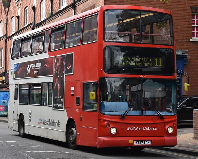 'National Express West Midlands' Alexander Dennis Trident 2 '4143' (Y737 TOH)
