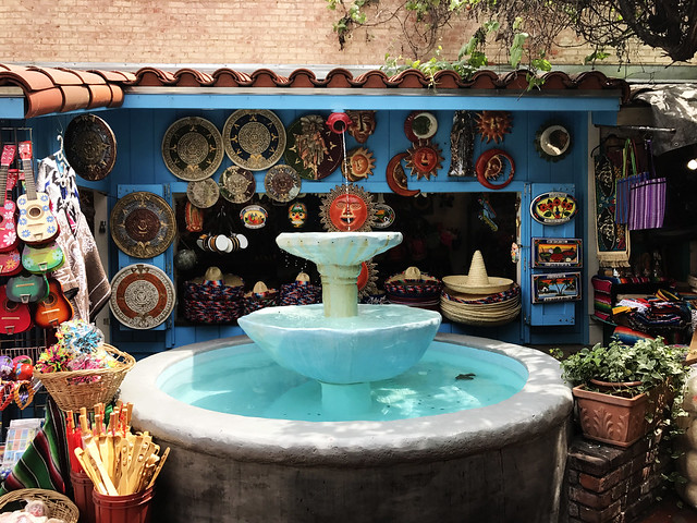 Fountain at Olvera Street