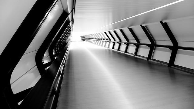 Adams Plaza Bridge in black and white: part 3