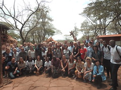 Giraffe-Group Photo at the side
