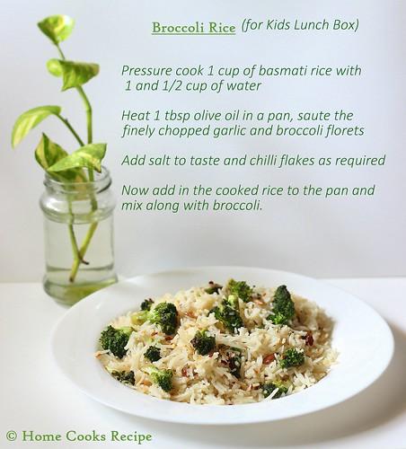 Broccoli Rice recipe | by Lavanya Kumara Krishnan