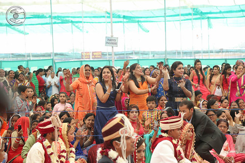 Devotee enjoying Mass Marriages