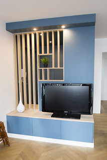 Meuble d'entrée/TV IKEA HACK - CP bouleau | by lip92