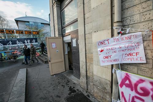 Salariés d'Onet en grève
