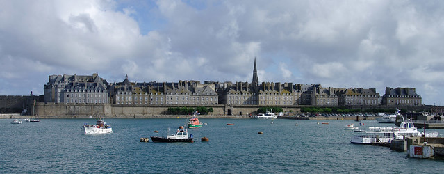 Saint-Malo from the ferry to Jersey