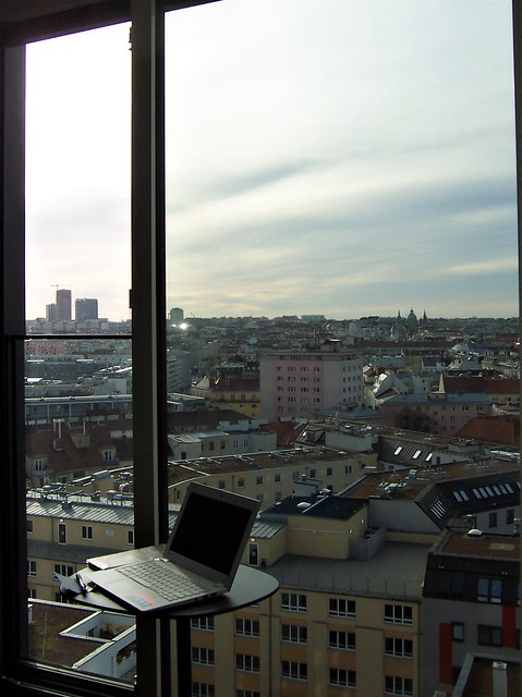 View across Vienna from Motel One room