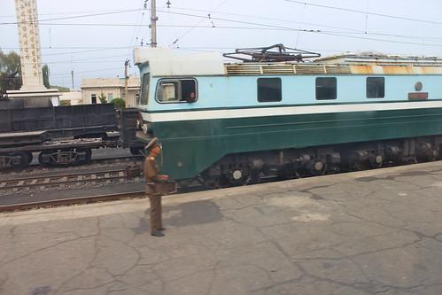 North Korean engine at Chongju Chongnyon train station | by Timon91
