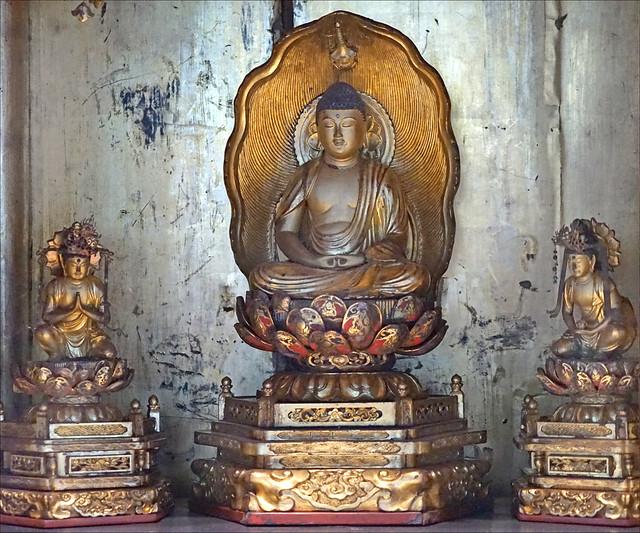 Autel bouddhique domestique (musée d'ethnographie de Genève, Suisse)