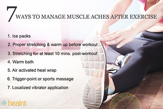 Dealing with muscle aches after physical exercise