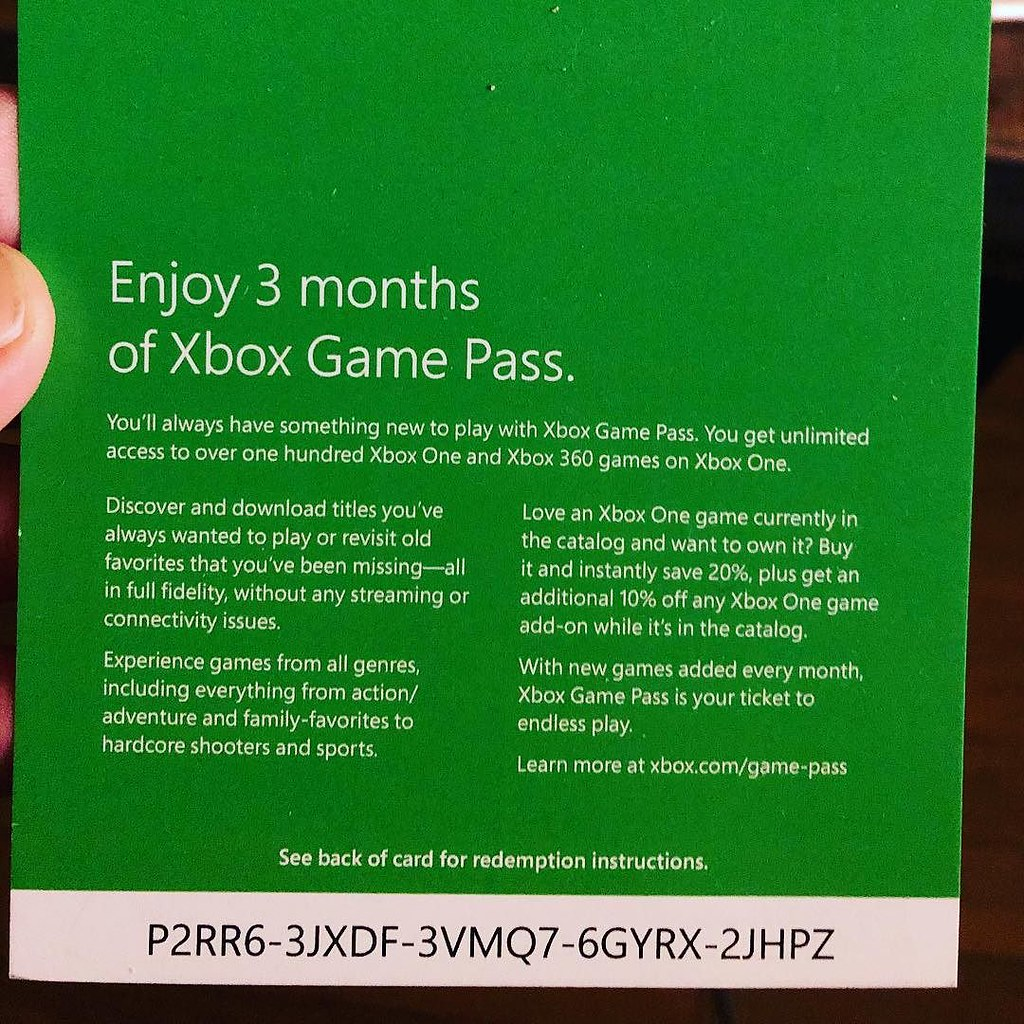 Here's a code for 3 months of @Xbox #GamePass - first to r