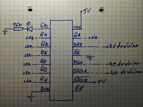 shift register connections on arduino | by eprojectszone