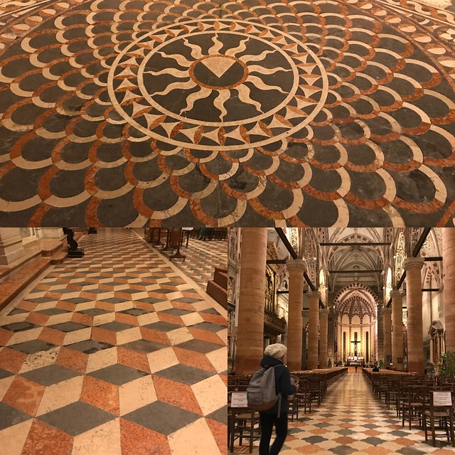 The floors in Sant'Anastasia were original (making them over 600 years old)