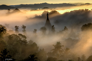 Steamy humid sunrise in Mrauk U, Myanmar | by Phil Marion (184 million views - THANKS)