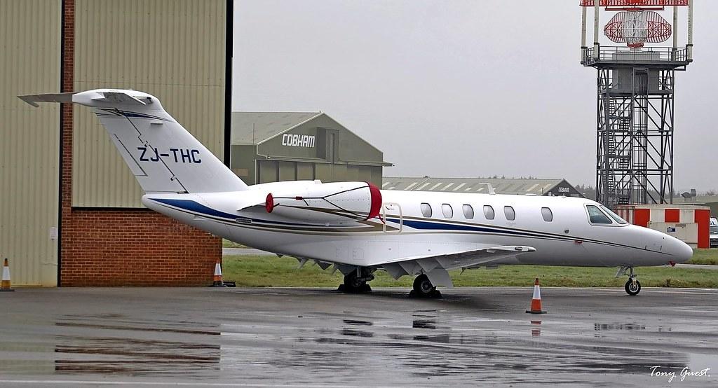 Zj Thc Cessna 525c Citation Cj4 Winter In Bournemouth