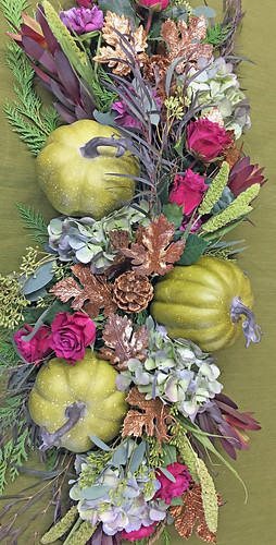 Thanksgiving Table Runner by Sandy Schroeck, AIFD, PFCI | by Flower Factor