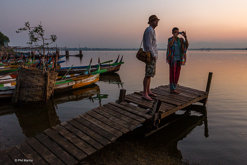 Waiting for the sunrise - U Bein bridge in Taung Tha Man Lake, Myanmar | by Phil Marion (184 million views - THANKS)