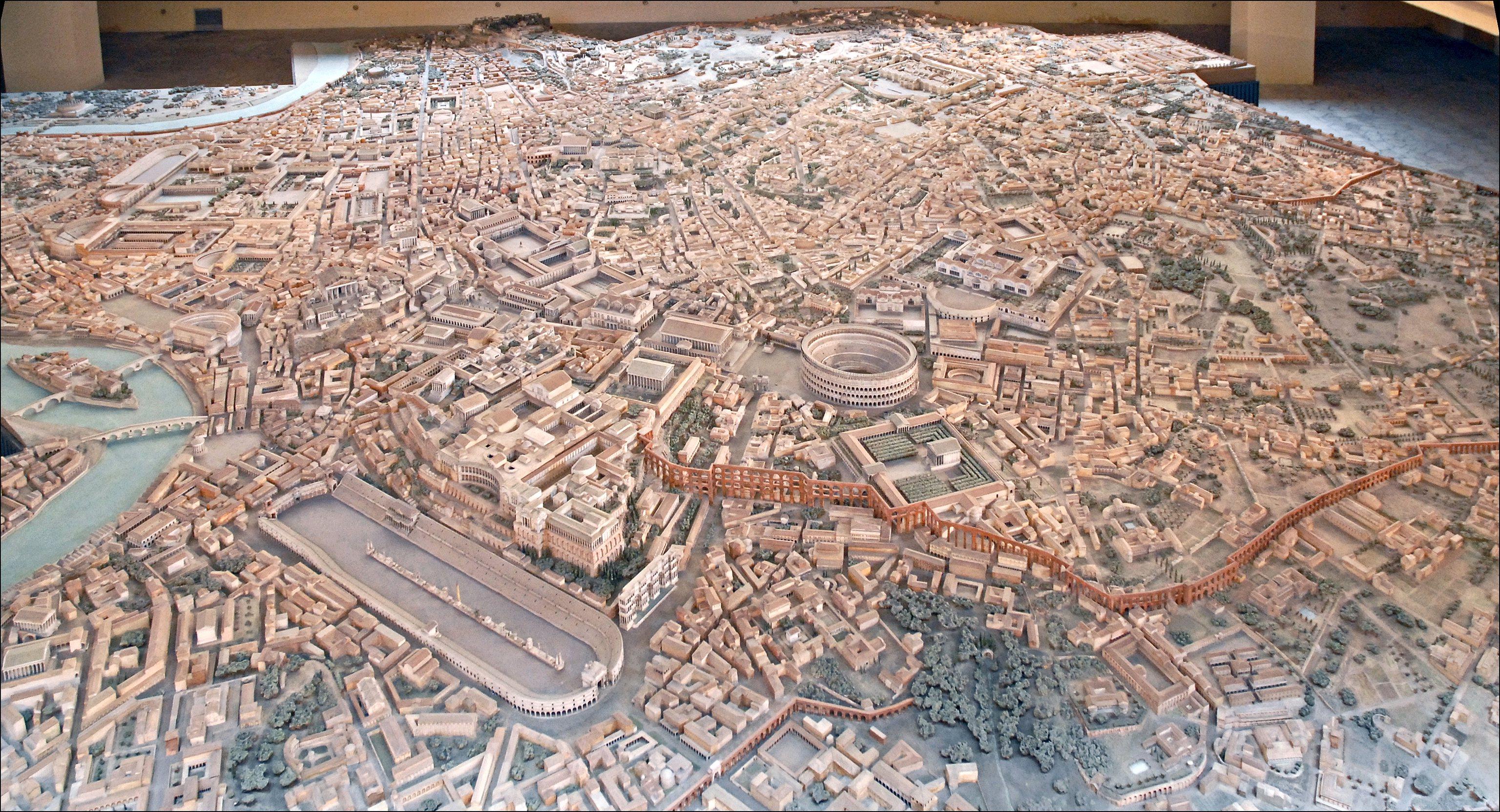 La maquette de Rome à l'époque de Constantin (musée de la civilisation romaine, Rome)