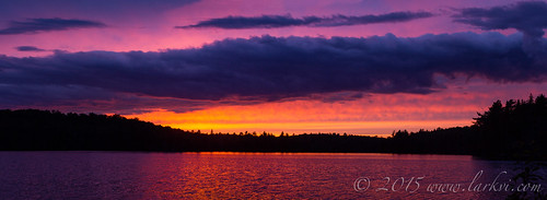 Sunset Pano, Pincher Lake, Algonquin Provincial Park, Ontario, Canada June 2015 | by larkvi