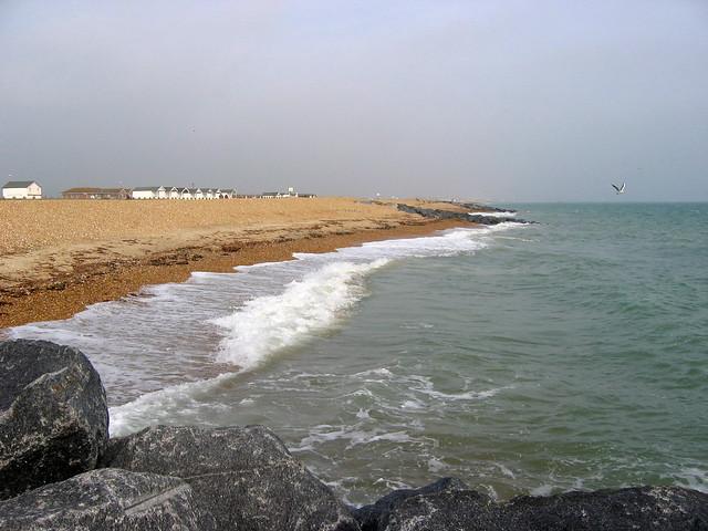 The beach at South Lancing