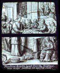 St Bridget feeds the poor (continental, 17th Century)