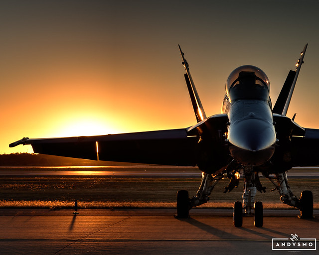 Blue Angel at Sunset