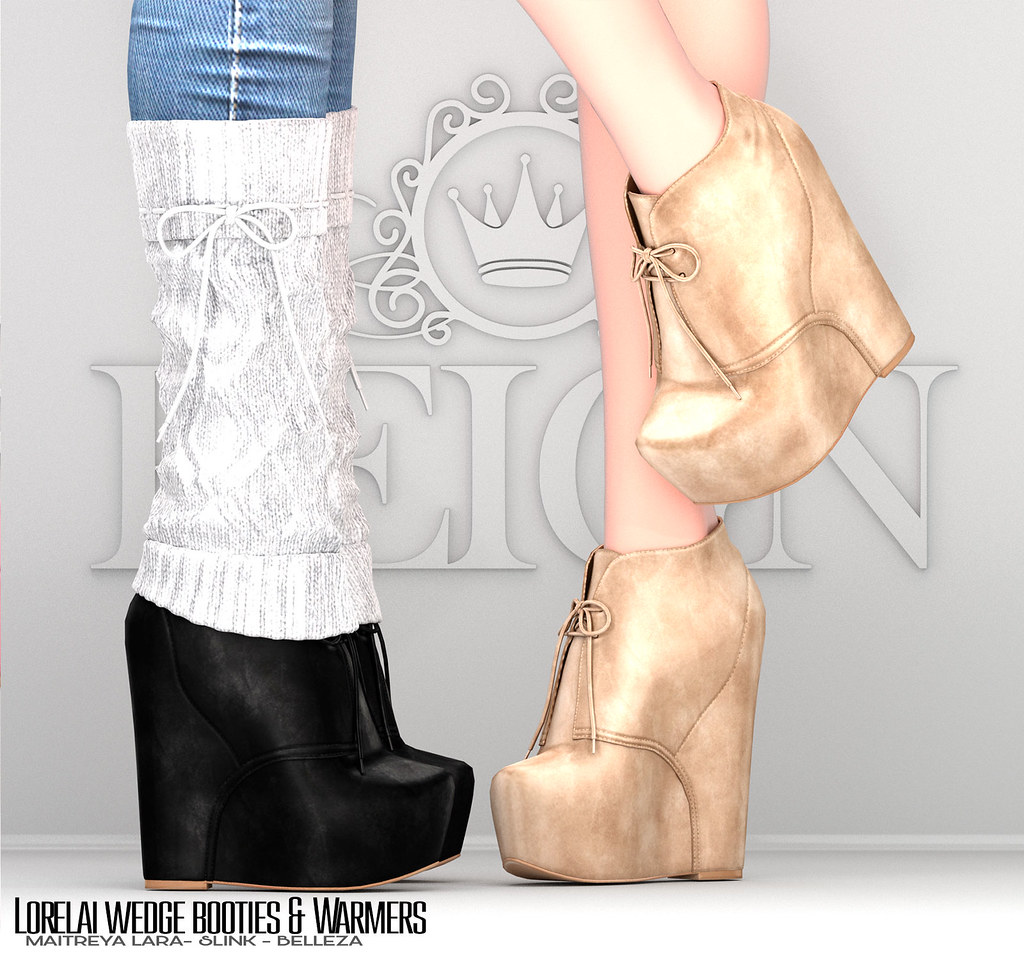 Amelia Karisha Pictures reign.- lorelai wedge booties and warmers | available 11-25