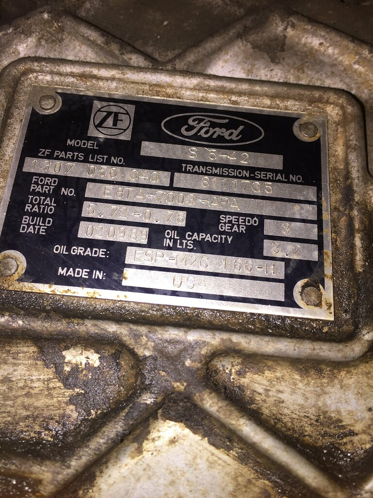 1989 Ford F350 7 5L 460 ZF5 manual transmission | Cleaned up