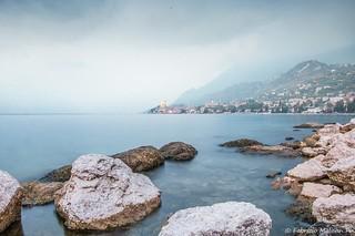 It's a gloomy day over Malcesine Lake Garda