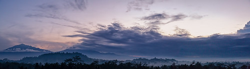 skyclouds sunrise indonesia yogyakarta borobudur