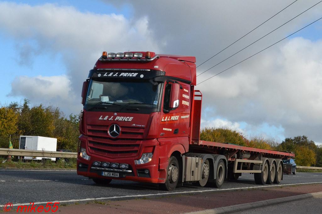 Mercedes Benz Actros MP4 'L & J Price Transport' reg LJ51