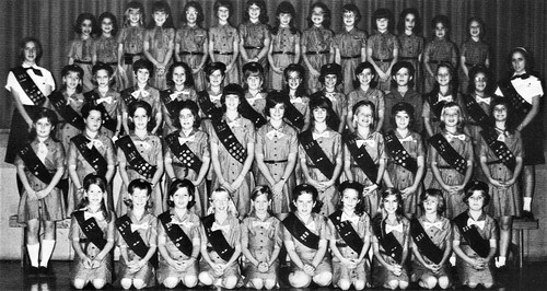 Brownies and Girl Scouts at Holy Spirit School in 1968 Huntsville, Ala