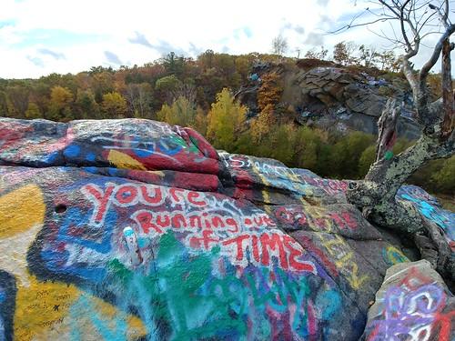 brooks brooksbos quincy graffiti art public rocks cliff tree quarries quarry lg g6 lgg6 android smartphone