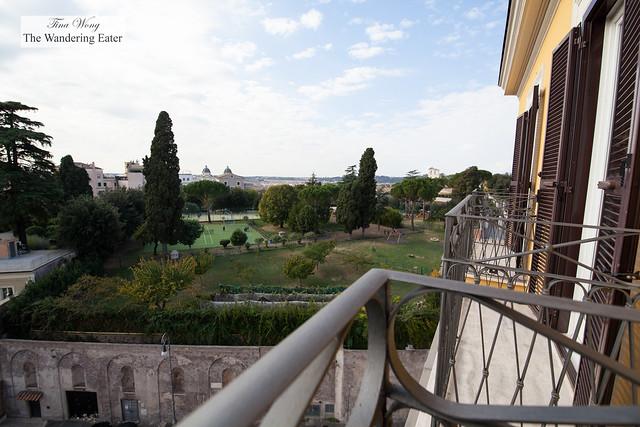 Balcony view at Villa Medici Presidential Suite