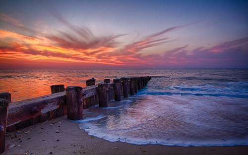 sunrise ocean beach