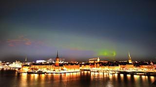 Aurora borealis over Stockholm city | by Blackpeppereye